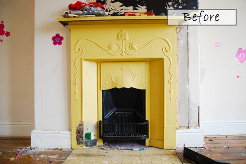 Edwardian Fireplace Before