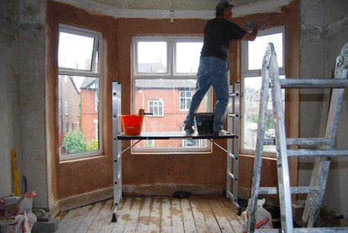 Plastering Bay Window
