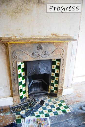 Stripped Edwardian Fireplace