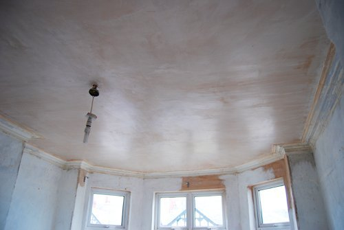 Newly Plastered Ceiling