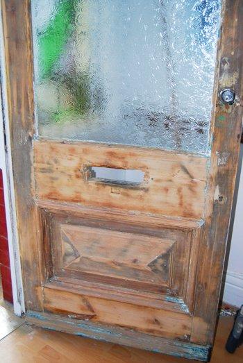 Sanded Front Door