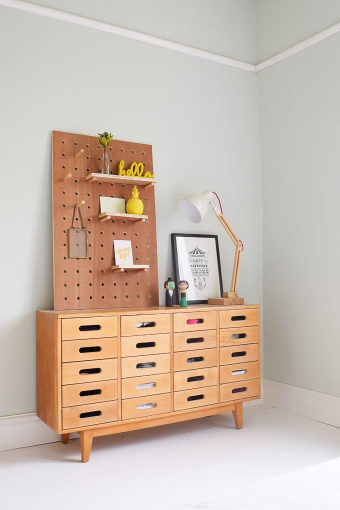 Esavian Sideboard & DIY Pegboard