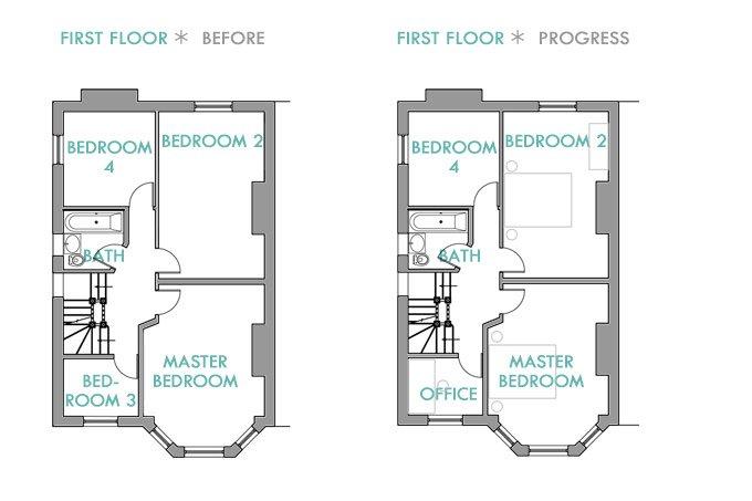 Edwardian First Floor Layout
