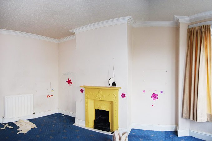 Master Bedroom Before With Fireplace