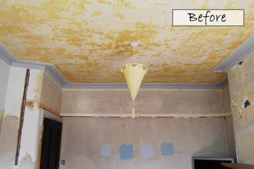 Living Room Ceiling Before