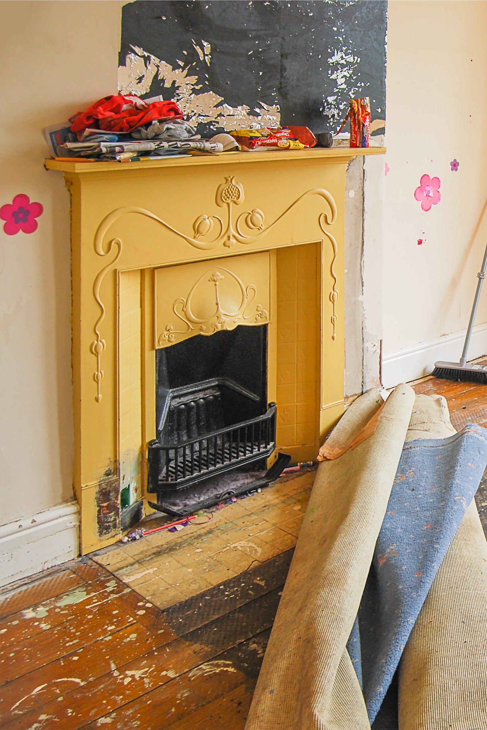 Edwardian Fireplace Before Restoration