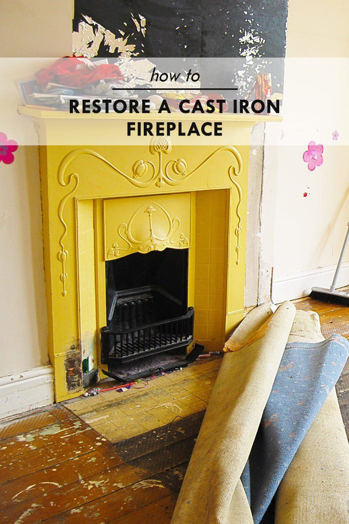 How To Restore A Cast Iron Fireplace - Edwardian and Victorian Fireplace Restoration - Little House On The Corner