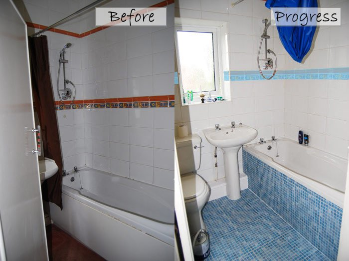Cheap bathroom makeover before after pictures Cheap bathroom remodel before and after