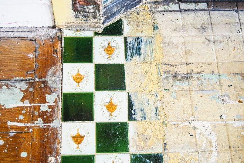 Stripping Edwardian Fireplace Tiles
