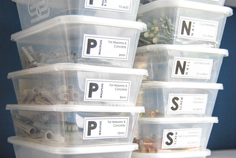 The Easiest and Free Way To Organize Screws and Nails