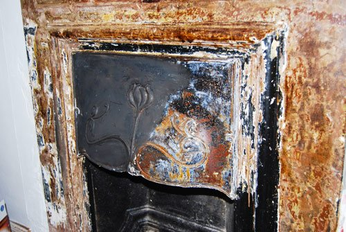 Stripped Fireplace