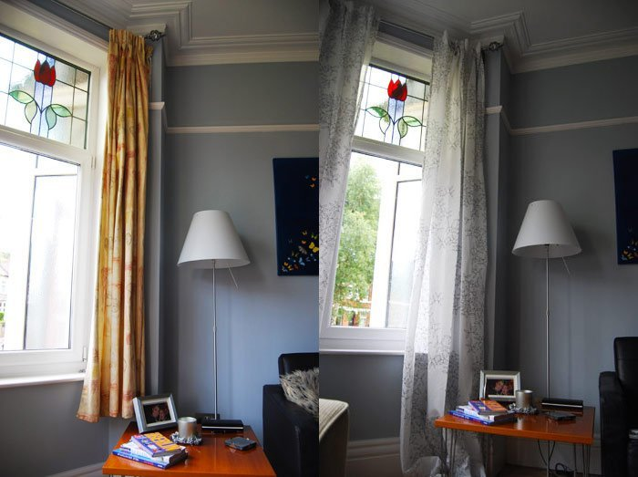 Curtains Before and After