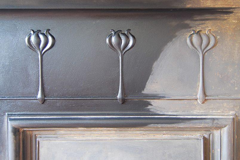 Detail on Edwardian Fireplace during restoration