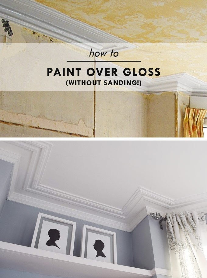 How To Paint Over Gloss   Little House On The Corner