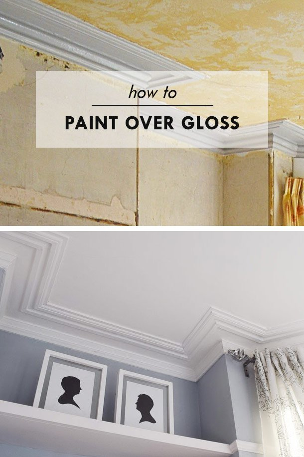 How To Paint Over Gloss