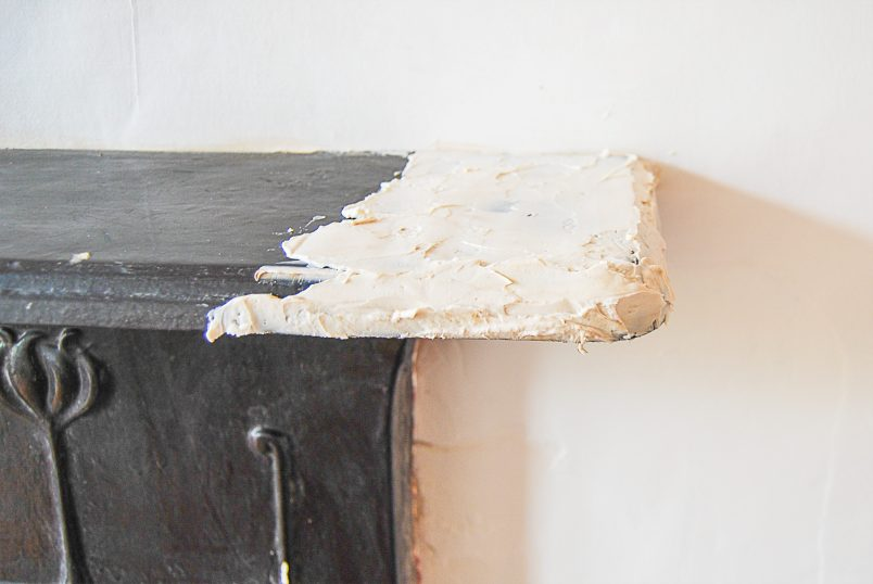 How To Restore A Cast Iron Fireplace - Stripping Paint With Peel Away