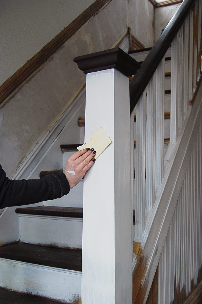 Edwardian Staircase Restoration - Painting - Little House On The Corner