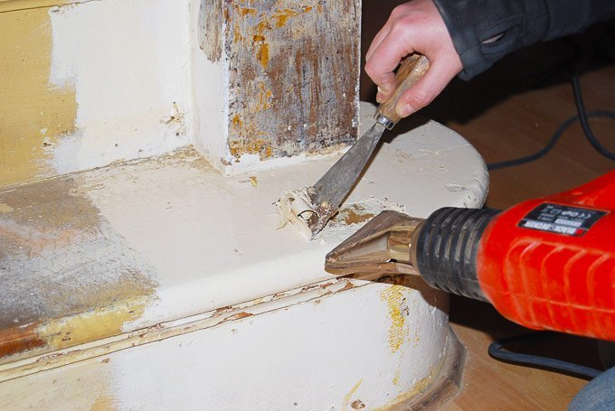 Edwardian Staircase Restoration - Stripping Paint with a Heatgun - Little House On The Corner