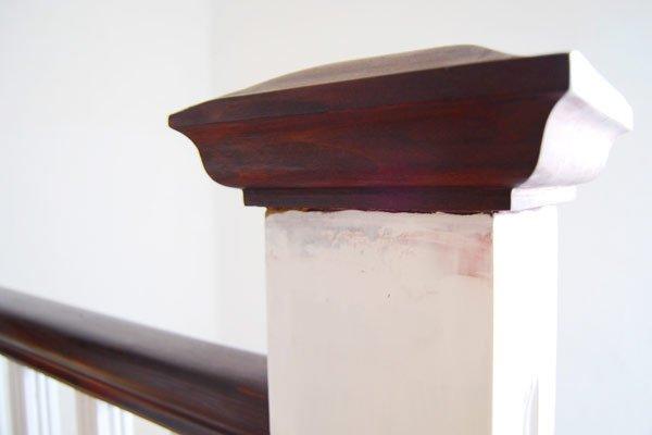 Painted Newel Post