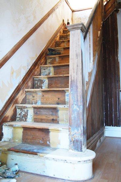 Staircase Restoration Progress