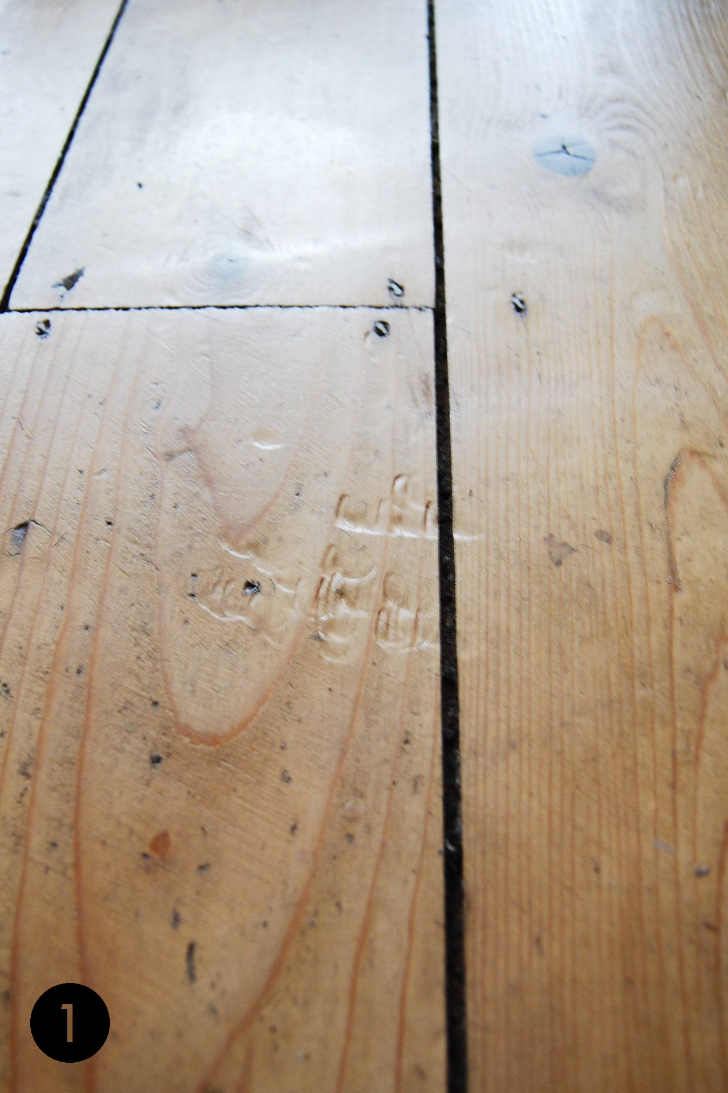 How To Remove Dents In Wood | Step 1 | Little House On The Corner