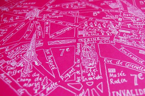 Paris Map Art