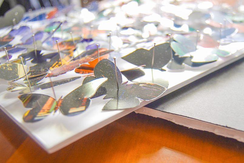 Paper Butterfly Art Out Of A Calendar
