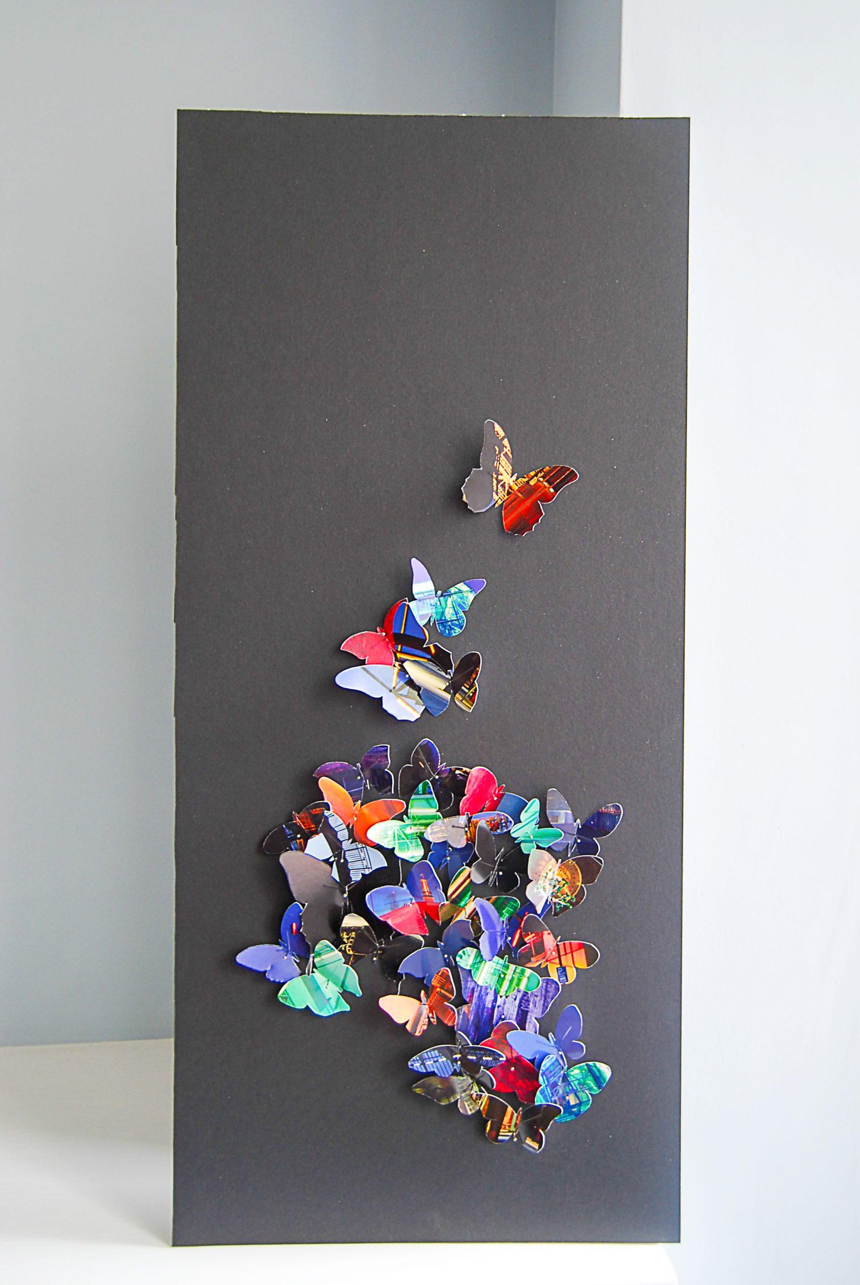 Handmade 3D butterfly art
