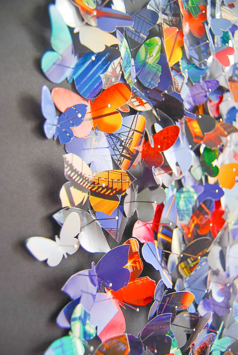 DIY Paper Butterfly Art