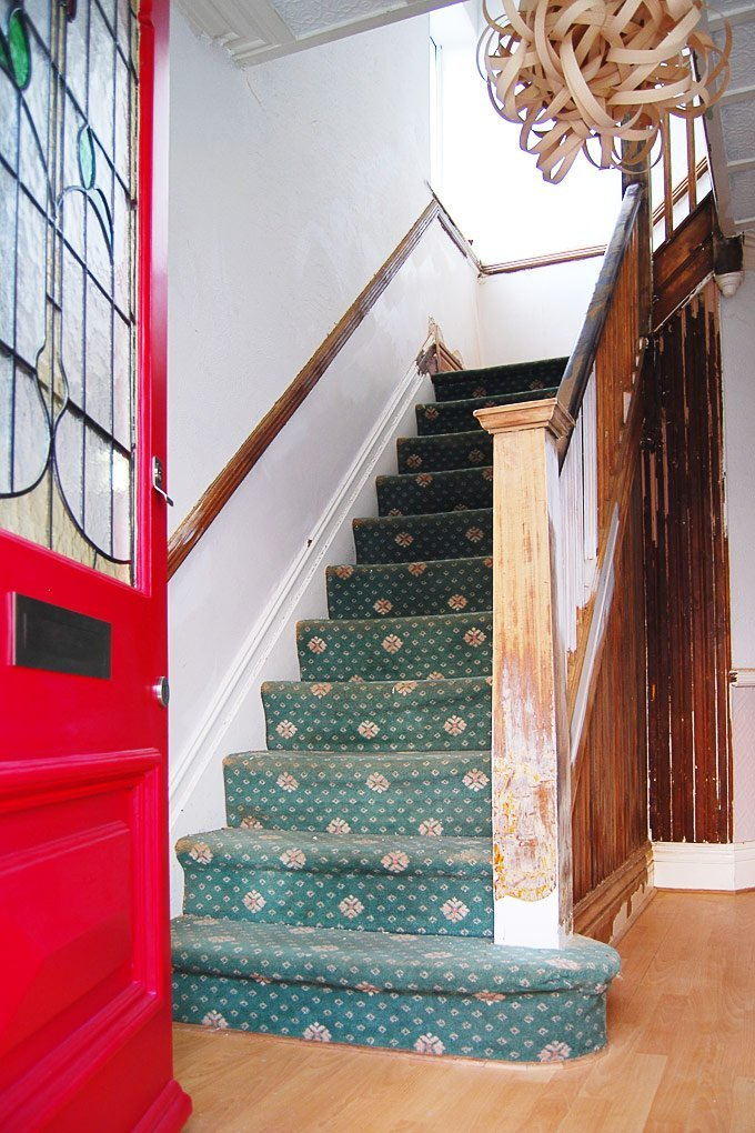 Edwardian Staircase Restoration - Removing Carpet - Little House On The Corner