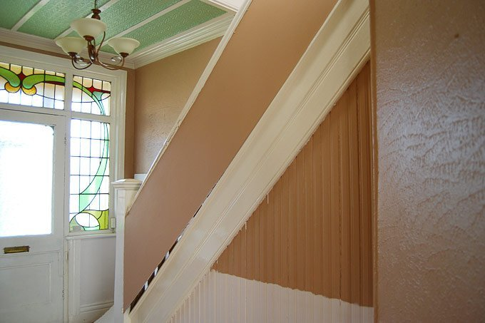 Edwardian Staircase and Hallway - Before - Little House On The Corner