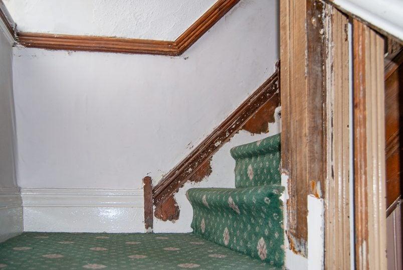 Staircase Halflanding Before Restoration