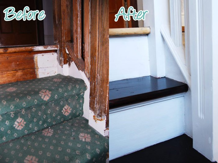 DIY Duel: Staircase Restoration – It\'s done!!!!! - Little House On ...