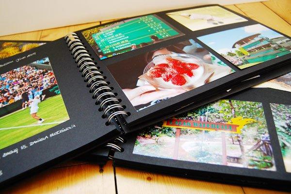 Make A Photo Scrapbook: www.littlehouseonthecorner.com/album-memory-art