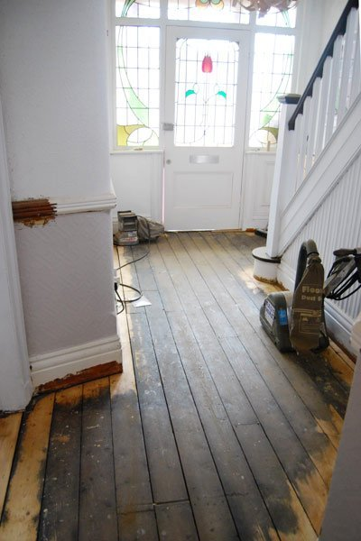 Sanding Floorboards