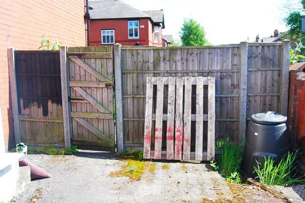 Painting Garden Fence