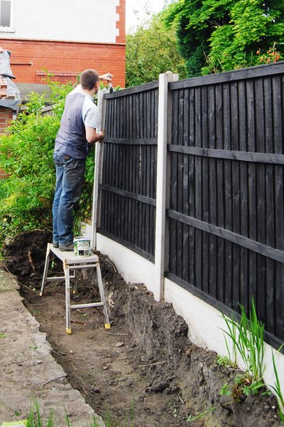 Painting A Garden Fence