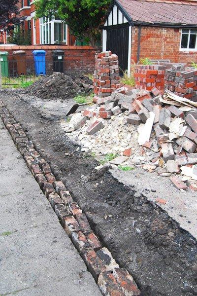 Rebuilding A Garden Wall