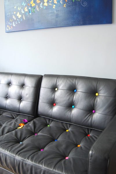 Covering Sofa Buttons
