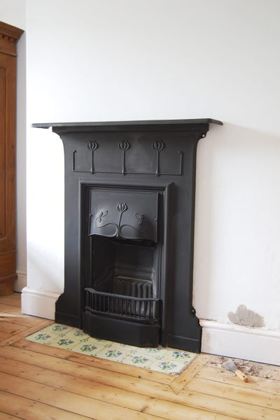 Installing a fireplace for Victorian corner fireplace