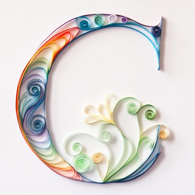 Quilled Letter Art