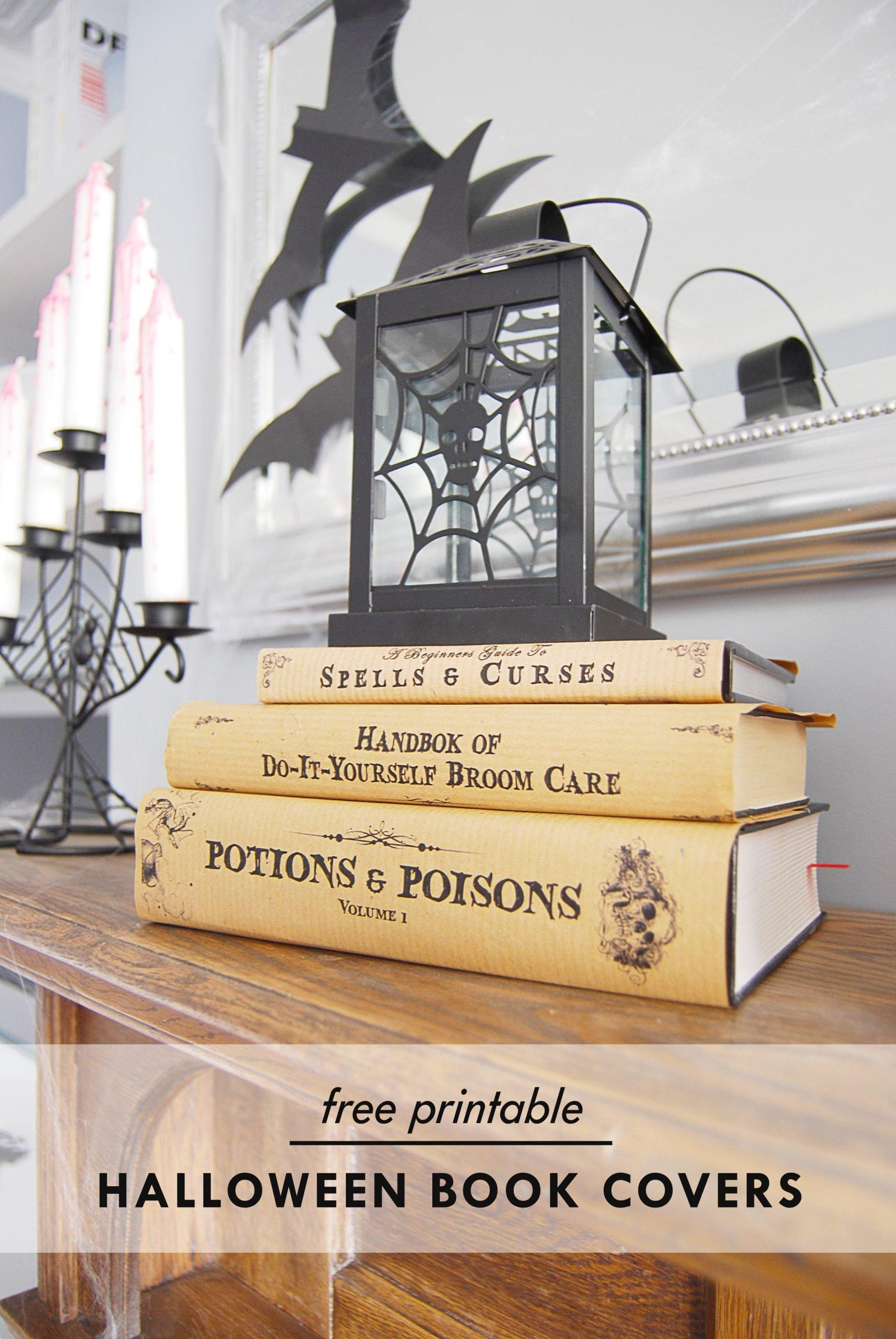 Halloween Book Covers Free Printable