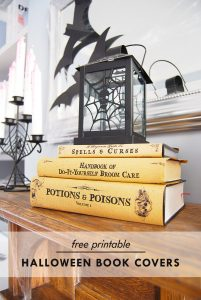Halloween Book Covers - F0ree Printable | Little House On The Corner