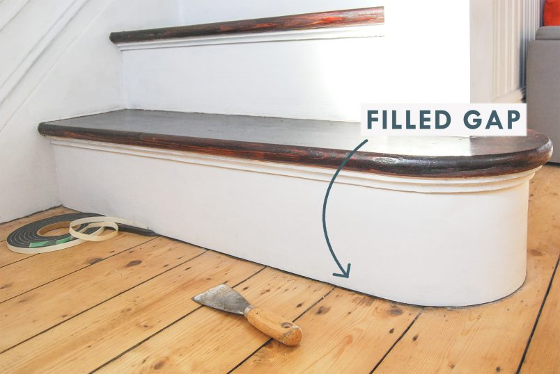 Filled Gap Between Floor and Baseboard - Skirtingboard