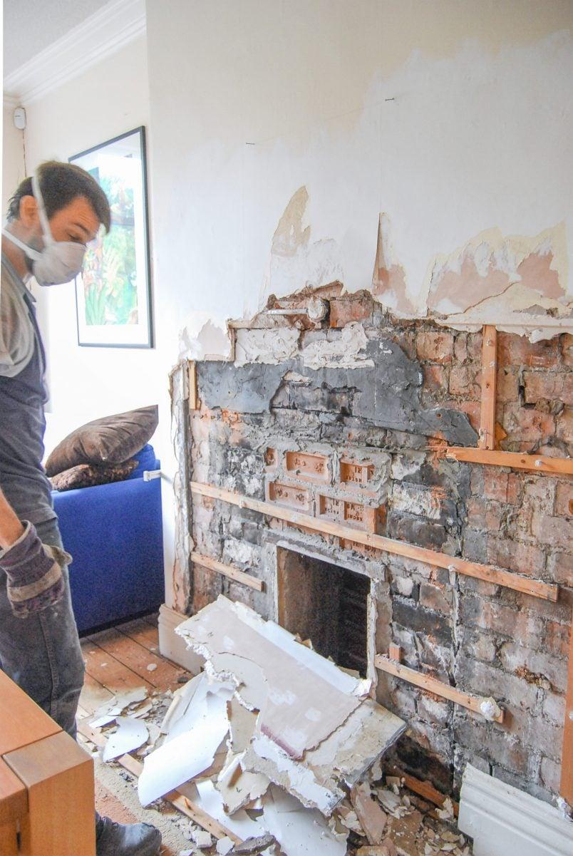 Installing A Wood Burner - Preparing The Opening