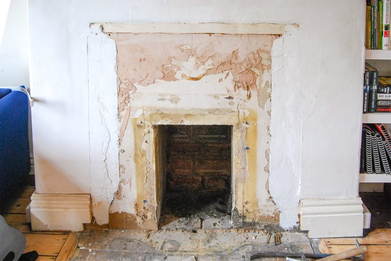 Installing A Wood Burning Stove In An Exixting Chimney - Before