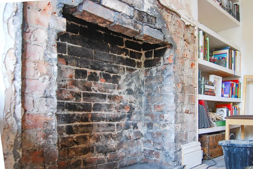 Missing Lintel Over Fireplace Opening
