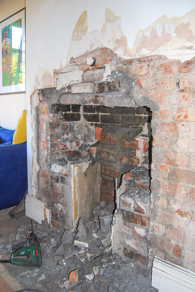 Opening Up Bricked Up Fireplace