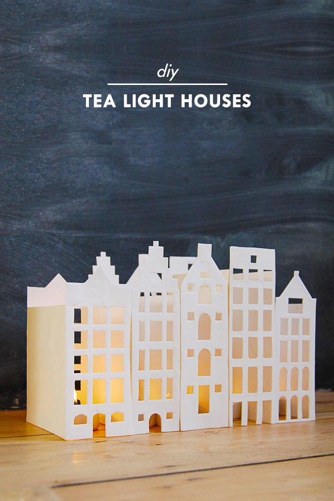 DIY Tea Light Houses - Little House On The Corner