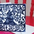 Lino Printed Christmas Card